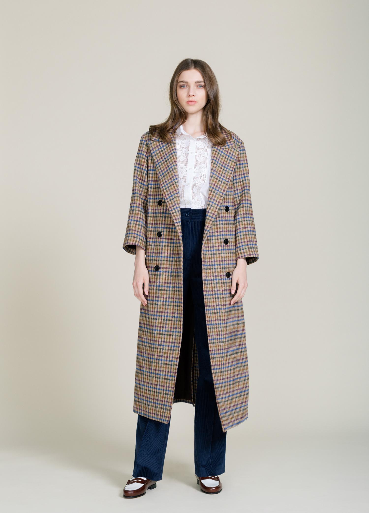 houdstooth coat