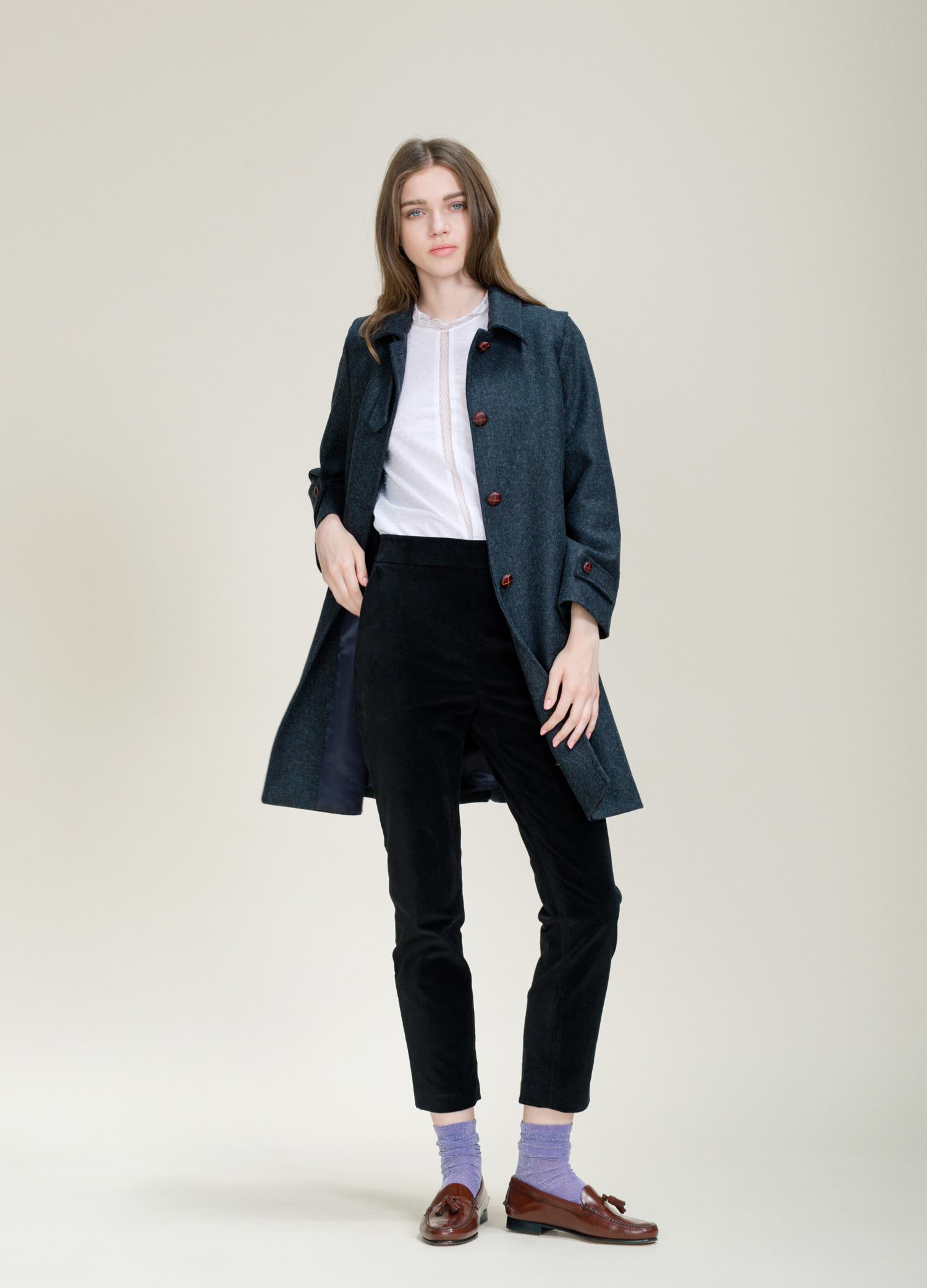 abrigo loden gris