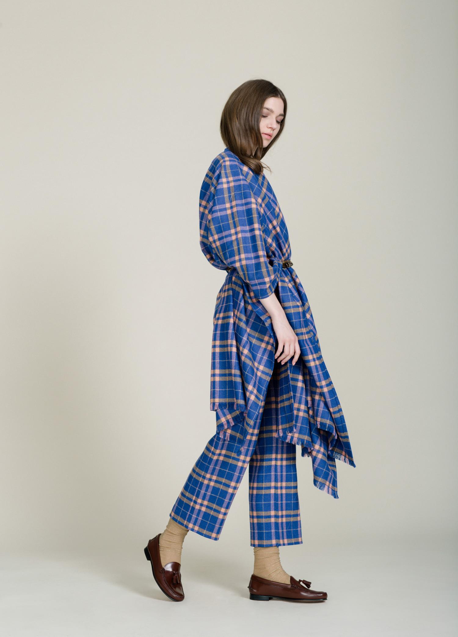 plaid shawl