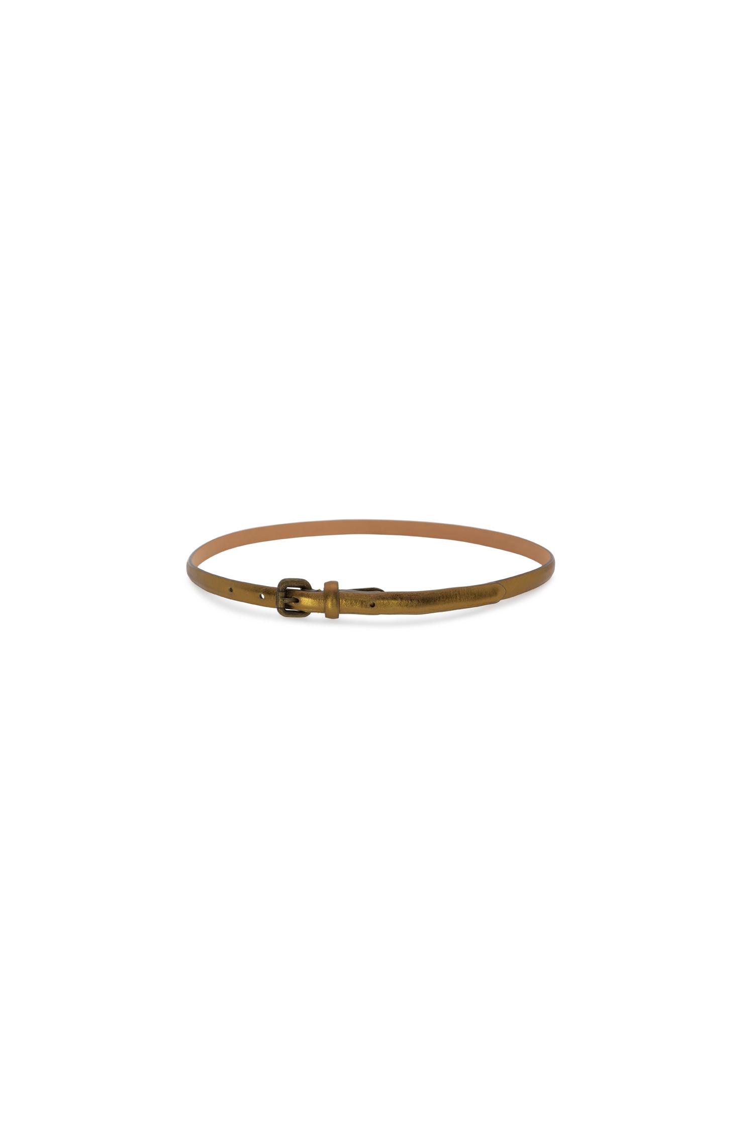 cinturon dorado piel