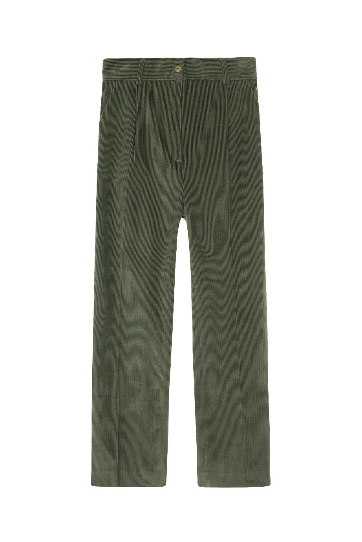 pantalon verde pana