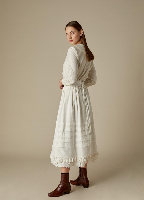 Blusa de algodón crudo Regina con detalles de puntilla-3-1