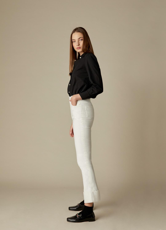 Camisa negra de algodón Janis-3