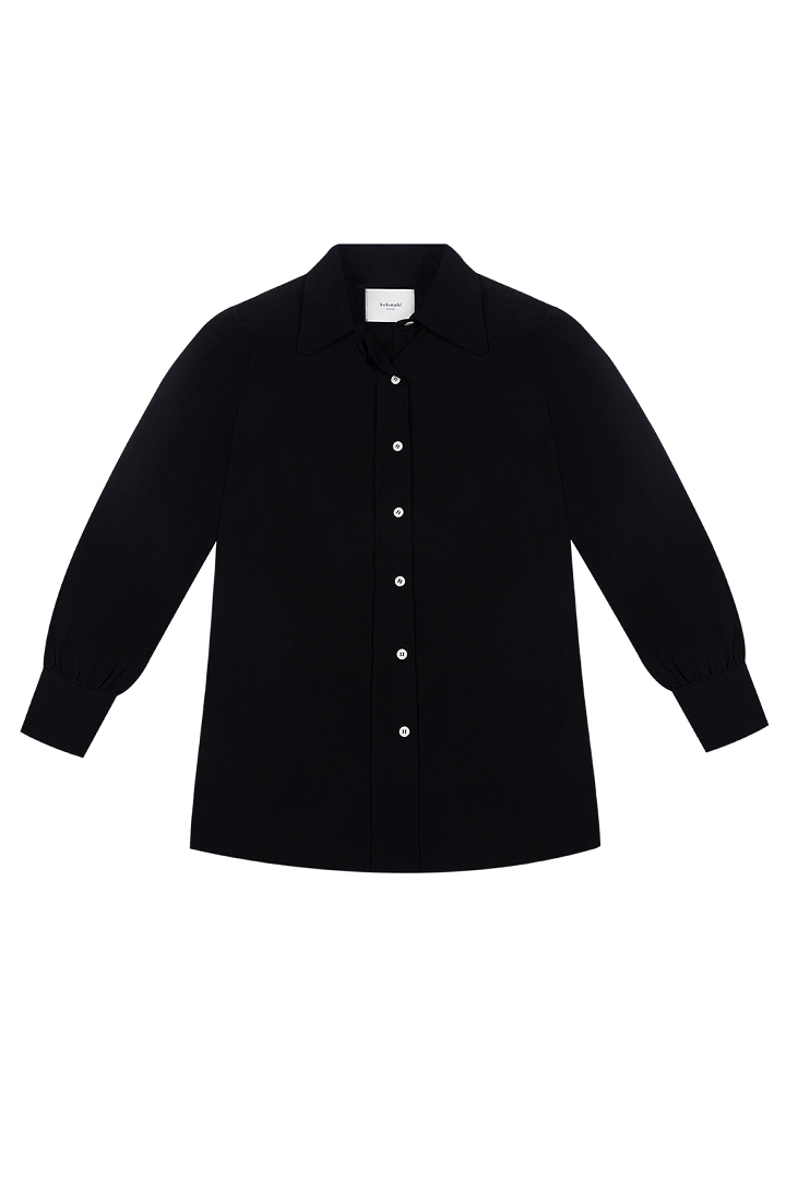 Camisa negra de algodón Janis-1