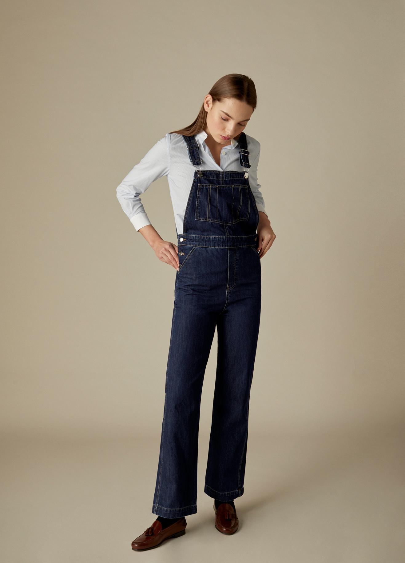 Camisa Clarise de algodón con estampado de cuadros vichy y cuello mao-6