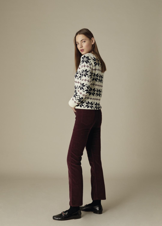 Jersey de grecas 100% lana en color crudo Piper-3