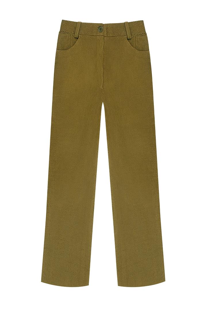 Pantalón de pana de algodón Alexa-1