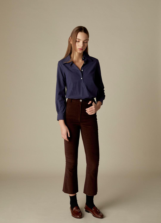Pantalón de terciopelo de algodón marrón Payton-2