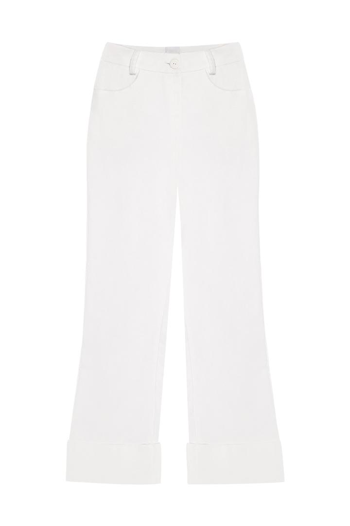 Pantalón de terciopelo de algodón crudo September-1