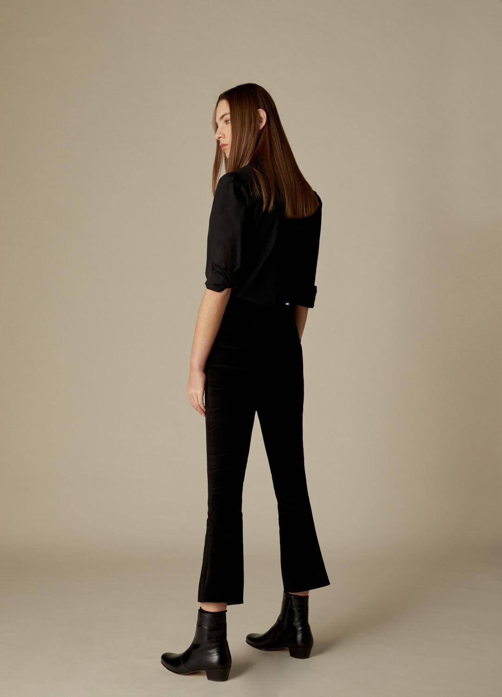 Pantalón de terciopelo de algodón negro Heather-3-1