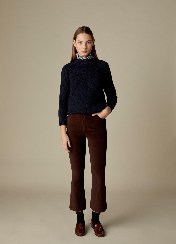 Jersey marino de ochos 100% lana Veda-2