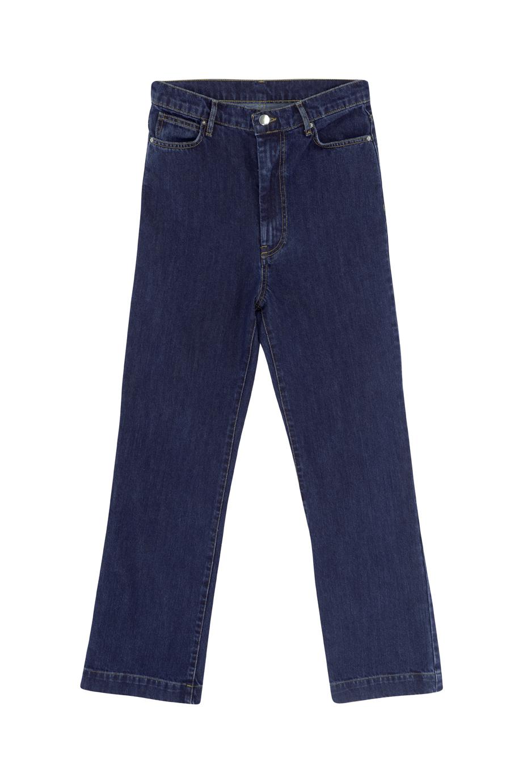 Pantalón vaquero vintage oscuro Tatum de talle alto-1
