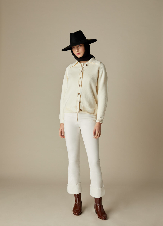 Sombrero de fieltro 100% lana Dora negro con pañuelo de quita y pon-3